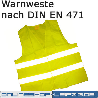 kinderwarnweste sicherheitsweste nach din en 471 pannenweste unfallweste gelb ebay. Black Bedroom Furniture Sets. Home Design Ideas